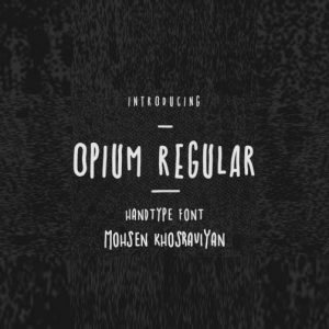 دانلود فونت لاتین OPIUM REGULAR